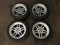 """BMW 18"""" M Parrallel Alloy Wheels Staggered 8J & 9.5J E38 750i E31 840Ci 850Ci E34 M5"""