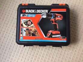 Black & Decker 18V Lithium Ion 2 Gear Cordless Hammer Drill with Case - EGBL188K-GB