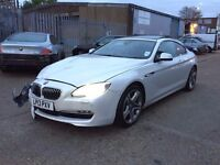 2013 BMW 640D SE AUTO WHITE SUNROOF CAMERA SALVAGE DAMAGED REPAIRABLE TOP SPEC CAMERAS NT 630 530D