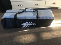 Hauck black grey travel cot