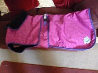 "Waterproof Fleecy lined Dog Coat by ""Masta"" size 28. As new - shipley"