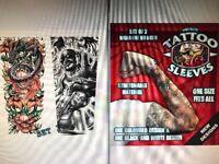Fake Novelty Shock Factor Tattoo Joke Arm Sleeves Temporary Tattoos Arm Body Art