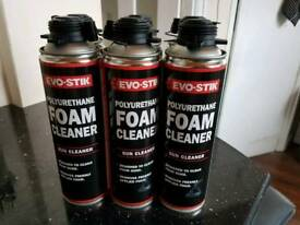 6X Evo-stik foam cleaners