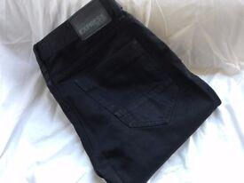 EXPRESS Men, Black Jeans, Size 33W 32L, Straight cut, regular fit