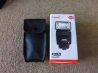 Canon 420EX Camera Flash Inc Softbox