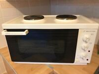 Mini oven and cooker free standing good cobdition