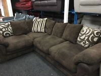 New/Ex Display Dfs Cord Brown Group Sofa