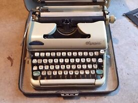 Vintage Olympia Typewriter in Original Carry case