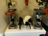 2 filter coffee machines, 11 coffee jugs and filter paper