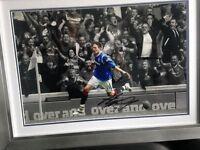RFC RANGERS football Kyle Lafferty signed framed print COLLECTORS Captains Armband