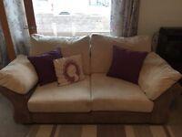 2 seater jumbo cord sofa free delivery Glasgow or Edinburgh