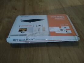 Single black floating shelf for games console or dvd player New