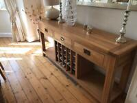 Console table with wine rack
