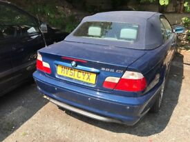 02 BMW E46 CONVERTIBLE THIS CARS FOR PARTS FOR ANY PARTS CALL ON