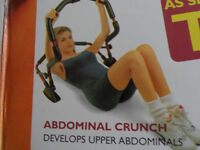 Abs toner with digital exercise computer, cushioned head support, easy to use