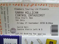 **Two** Sarah Millican 'Control Enthusiast' tickets. Friday 21st September DUNDEE CAIRD HALL