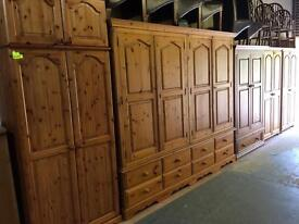 Solid wood / pine wardrobes