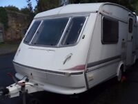 Part X To Clear Elddis Whirlwind Two Berth Touring Caravan Full Awning