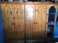 Wooden cupboard and draws