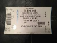 One the stone roses ticket for Belfast 13 june