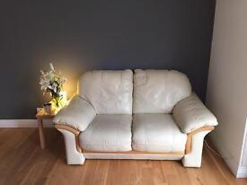 Cream leather 2 seat sofa idea for conservatory???