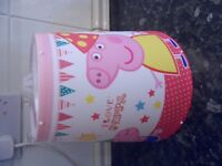 Peppa Pig light shade £5.00 collection Stourbridge