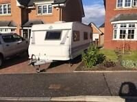 SOLD Hobby 650 Exclusive, twin axle, fixed bed, 5 berth