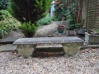 Garden Bench - Stone - Superb Item - Quick Sale as Moving