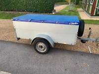 Anssems GT750-201 trailer with high quick fit cover extensions ladder rack new tyres