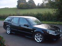 Saab 1-9tid Estate, 2006, Black.