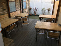 Aluminium-Wooden Garden Chairs and Tabels Perfect for Cafes