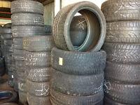 245/50/18 Dunlop Winter M+S Runflat x2, 6mm (168 High Road, Romford RM6 6LU) Partworn 225 40 295 35