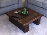 Solid Oak Coffee Table - Dark Stained