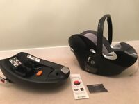 Cybex Platinum Aton Q baby car seat & ISOFIX base