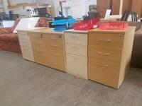 Modern 3 drawer office pedestals