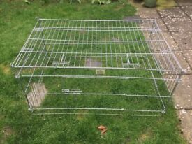 Rabbit/Guinea pig run and plastic cage.