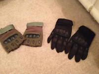 Shooting/combat Gloves carbon knuckle