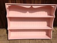 Pink painted pine dresser top