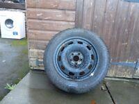 vw golf steel wheel with good tyre