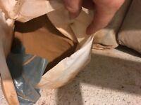 Bags of pre mix concrete