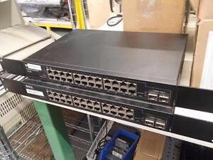 Lot of 2 Dell PowerConnect 2724 24-Ports Gigabit Switch Managed 10/100/1000