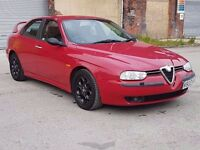 !! VERY RARE !! 2000 ALFA ROMEO 156 2.5 V6 24V 190 BHP, MANUAL, SALOON, LOW MILEAGE, P/X TO CLEAR !