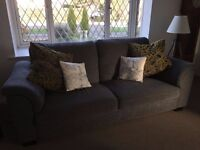 IKEA SOFA - Blue/ Grey Fabric - Used but Clean, Modern, Solid, Compact