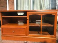 Television and music system wooden unit - furniture and storage for living room
