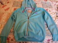 Ladies superdry hooded top size large