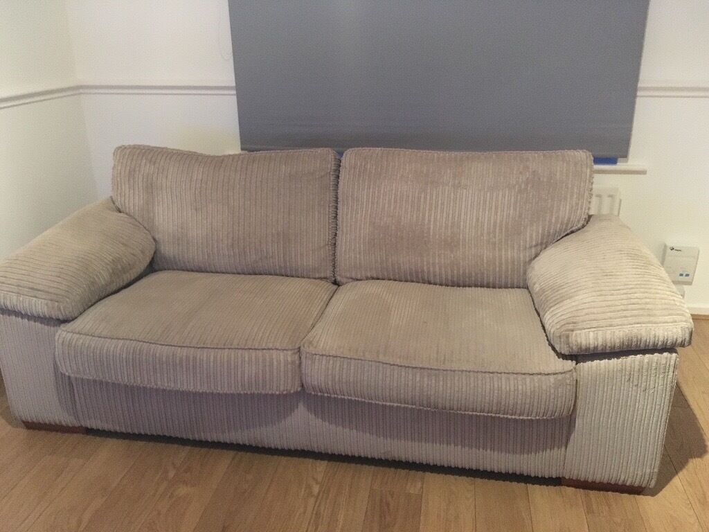 Sofaworks 3 Seater Mink Cord Settee in Hull, East Yorkshire Gumtree