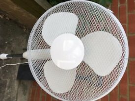 large white freestanding adjustable fan