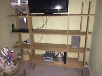 Ikea oak bookcase shelf RRP £170