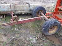Old fertiliser spreader chassis.