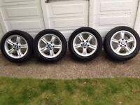 Used Genuine BMW STYLE 55 Z3 e36 e46 1 3 series set 4 Alloy Wheels 5 spoke OEM - WOKING
